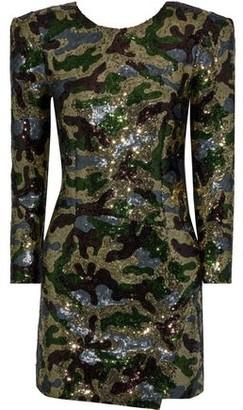 Dundas Open-back Sequined Tulle Mini Dress