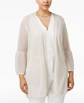 Calvin Klein Plus Size Bell-Sleeve Duster Cardigan