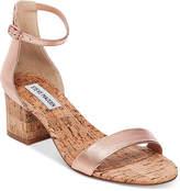 Steve Madden Women's Irenee Two-Piece Cork Block-Heel Sandals
