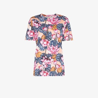 Mary Katrantzou Tiery Floral Print Cotton T-Shirt