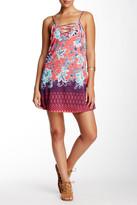 Trixxi Crepe Lace-Up Trapeze Dress