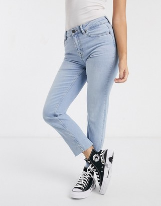 Noisy May straight leg jeans in light blue