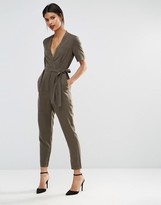 French Connection Wrap Jumpsuit