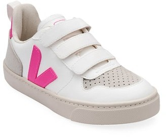 Veja Baby's & Little Girl's V-Logo Leather Grip-Tape Sneakers