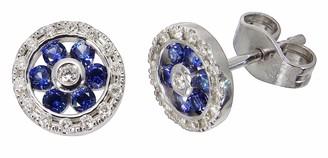ClearCut womens White Gold Diamond Stud Earrings - 2-20110S