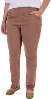 Jag Peri Straight Twill Pants (For Plus Size Women)