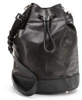 Mackage Leather Drawstring Bucket Bag