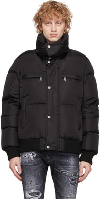 DSQUARED2 Black Nylon Mini Fit Puffer Jacket