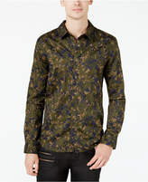 GUESS Men's Cypress Quilted Camo Slim Fit Shirt