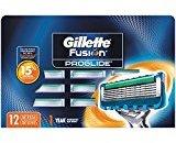 Gillette Fusion ProGlide Men's Razor Blade Refills, 12 Count