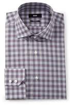 BOSS Check Regular Fit Dress Shirt