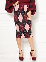 New York & Co. Eva Mendes Collection - Ilaria Argyle Sweater Skirt