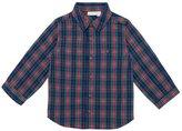 Jo-Jo JoJo Maman Bebe Check Shirt (Baby) - Navy-6-12 Months