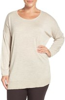 Eileen Fisher Crewneck Featherweight Merino Sweater (Plus Size)