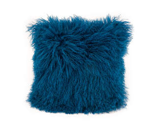 Moe's Home Collection Lamb Fur Pillow Blue
