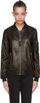 Mackage Black Leather Val Bomber Jacket