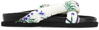 Kenzo floral-print padded slides