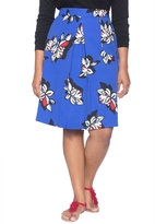 ELOQUII Plus Size Printed Pleat Skirt