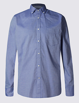 Blue Harbour Pure Cotton Oxford Shirt With Pocket