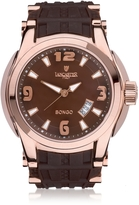 Lancaster Bongo Tempo Stainless Steel Men's Watch w/ Rubber Strap