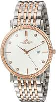Adee Kaye Men's Quartz Stainless Steel Dress Watch