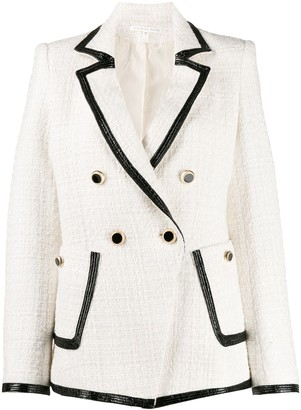 Veronica Beard Contrast-Trim Fitted Blazer
