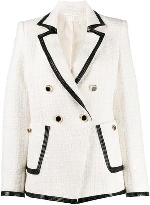 Veronica Beard contrast-trim fitted blazer