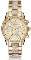 Michael Kors Ritz Chronograph & Date Crystal Bracelet Watch