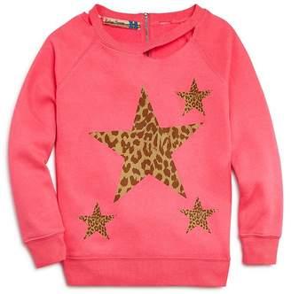 Vintage Havana Girls' Leopard-Star Sweatshirt - Big Kid