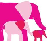 avalisa - Elephants Stretched Print