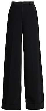 Ralph Lauren Women's Alana Wide-Leg Stretch Virgin Wool Tuxedo Trousers