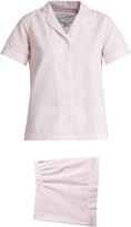 HVN Alice striped seersucker pyjama set