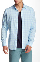 Slate & Stone Long Sleeve Plaid Trim Fit Shirt