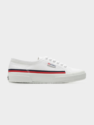 Superga 2750 Cotflaggrosgrainu Sneakers in White Blue Red