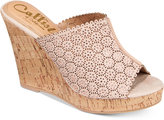 Callisto Lovie Embellished Wedge Sandals