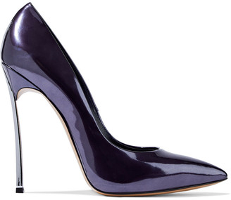 Casadei Mirrored-leather Pumps