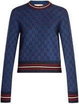 Gucci GG jacquard-knit cropped sweater