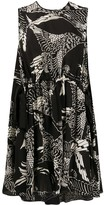 RED Valentino Phoenix print A-line dress