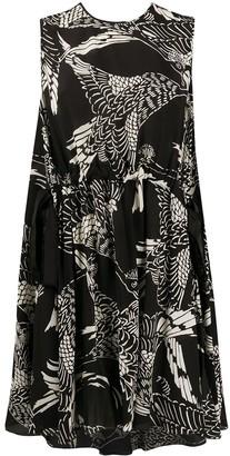 RED Valentino Phoenix print A-line dress