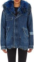 Mr & Mrs Italy Women's Fur-Trimmed & -Lined Denim Parka