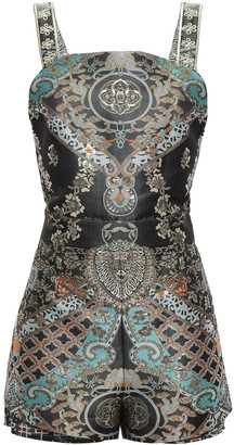 Camilla Dynasty Days Open-back Brocade Playsuit