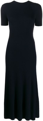 Gabriela Hearst Ribbed Crew Neck Dress
