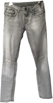 Gas Jeans Grey Cotton - elasthane Jeans for Women