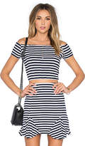 Lovers + Friends Crashing Waves Top in Navy. - size L (also in )