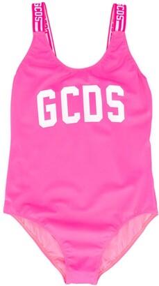 Gcds Kids TEEN logo print swimsuit