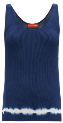 Altuzarra Hikaru Shibori-dyed Pima-cotton Tank Top - Blue