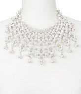 Natasha Accessories Faux-Pearl & Crystal Statement Frontal Necklace