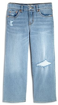 Levi's Girls' Ripped Wide-Leg Jeans - Big Kid