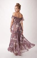 alessandra ambrosio  Who made  Alessandra Ambrosios print maxi dress?