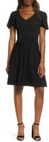 Eliza J Ribbed Fit & Flare Sweater Dress